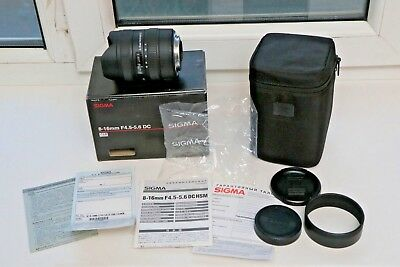Sigma DC 8-16mm f/4.5-5.6 HSM DC Lens For Canon - Excellent