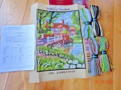 Twilleys of Stamford Colour Printed Tapestry Kit - Summer River - 1565 Unused