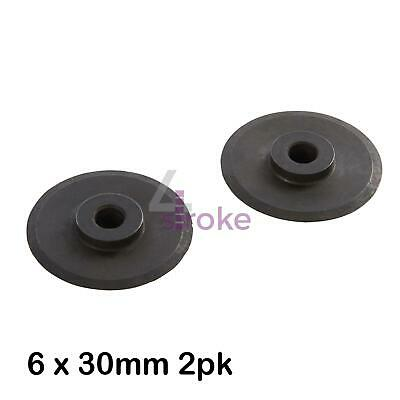 Quick Release Tube Cutter Replacement Wheels 2Pk 6 x 30mm Steel Construction