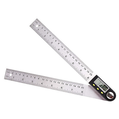 Digital Angle Ruler With LCD Display Angle Finder Protractor 400mm 0-360 Degree
