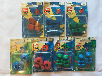Prym kids jacket cord toggles and cord stoppers. teddy, hearts. new unopened.