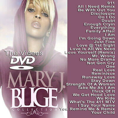 Mary J. Blige MUSIC VIDEOS HIP HOP R&B RAP DVD