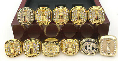 11 Pcs Ring Montreal Canadiens Stanley Cup Championship Ring Fan Gift !!