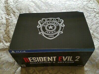 Resident Evil 2 Remake Collector's Edition PS4 Deluxe RPD *EMPTY* BOX Chest ONLY