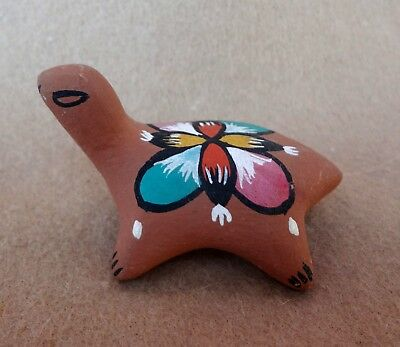 TURTLE MINIATURE Hand Crafted Signed Terracotta Pottery 1973