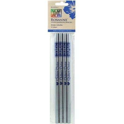 Colonial Water Soluble Chalk Marking Pencils Pack of 4 - Silver Colour
