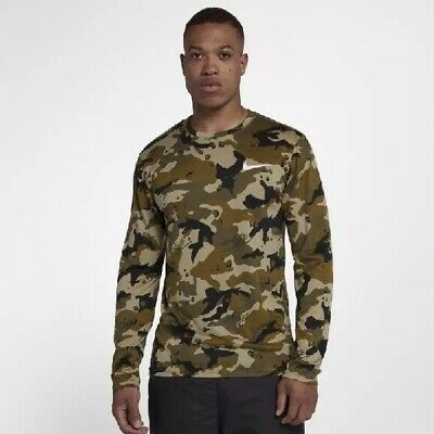 NEW Mens Nike Dri-FIT Legend Long-Sleeve Camo Top Sweatshirt Limited Edition