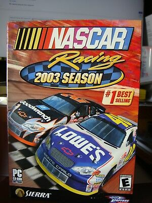 New Nos Unopened Factory Sealed Nascar Racing 2003 Season Pc Disc Game Complete