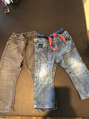 2 Pairs Of NEXT boys Jeans 12-18 Months