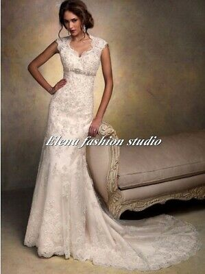 ff4b198c MAGGIE SOTTERO LACE Wedding Gown - $250.00 | PicClick