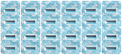 Schick Hydro Silk Refill Razor Blade Cartridges, 24 Count (Individually Packed)