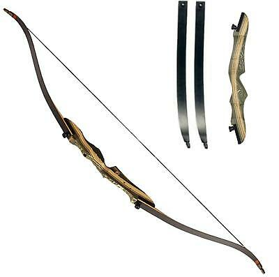 """Black Hunter Recurve Bow Takedown Bow Archery Bow 20-50lb 62"""" Right Hand Hunting"""