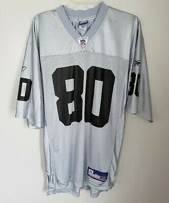 a1df476a014 Rare Vintage Reebok NFL Oakland Raiders Jerry Rice 80 Silver Jersey Mens M