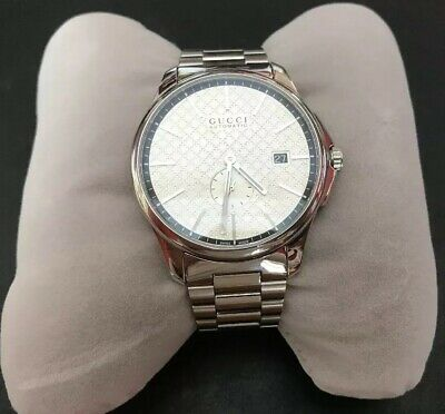 e8495ff2a98 Gucci Men s Timeless Silver Dial Stainless Steel Swiss Automatic Watch  YA126320