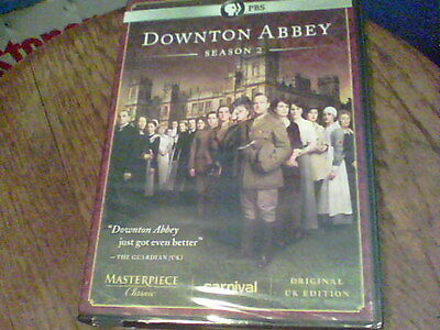 Downton Abbey: Season 2 DVD 2012 3-Disc Set NEW sealed original UK edition