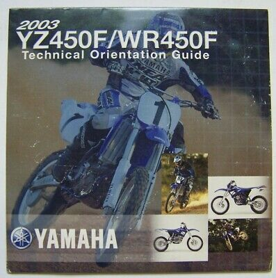 2003 Yamaha YZ450F-WR450F Technical Orientation Guide CD - All Manuals +++