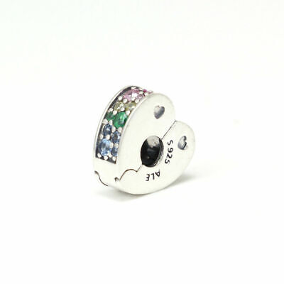New Authentic Pandora Charms 925 ALE Sterling Silver Crystal CZ Clip Charm Bead