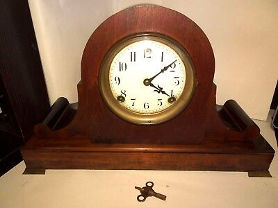 Antique 8 Day Half/Hour Strike Cathedral Gong Mantle Clock Session Clock Co Work
