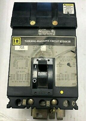GREEN SQUARE D 30A 3P 600VAC CIRCUIT BREAKER FA36030 I-Line 2 year WARRANTY