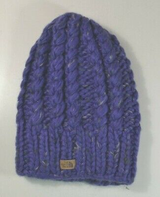 804b833aea82b Nwt The North Face Chunky Hand Knit Deep Blue Outdoor Beanie Hat One Size