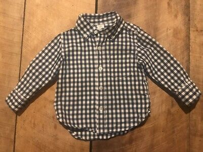 Baby Gap Boys Size 12-18 Mo Shirt Button Down Long Sleeve