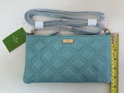 NWT kate spade Presley Astor Court Quilted Leather Crossbody Shoulder Bag  Blue c0fbe8bbb14ed