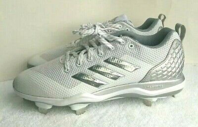 09946cfe837c Adidas Men's Power Alley 5 Baseball Cleats Sz 8.5 White Gray NEW B39190