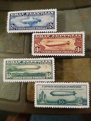US Stamps #C13 C14 C15 C18 Graf Zeppelin Air Mail NG Perf High Quality Replicas