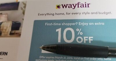 WAYFAIR: 10% Off Your First Order - Discount Coupon Code [3/31/19]