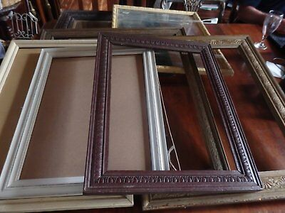 Group lot of 8 vintage wooden picture frames pick up from Adelaide Hills