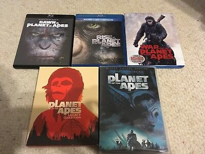 Planet of the Apes- 9 Movies-complete Film Collection Box Set Legacy Blu Ray Dvd