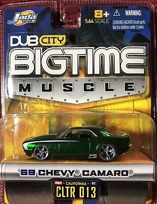 Jada Toys Bigtime Muscle~ '69 Chevy Camaro (Vert) - 1:64 Moulage sous Pression