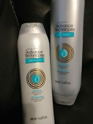 *Lot of 2* AVON Advanced Techniques *Moroccan Oil* Shampoo & Conditioner Argan