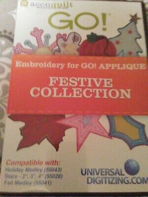 Accuquilt Go! Applique Embroidery Designs CD - Festive Collection
