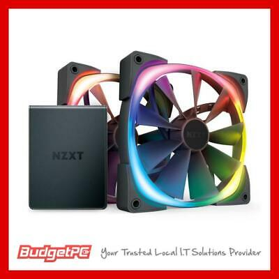 NZXT Aer RGB 2 120mm PWM Fan 3 Pack with HUE 2 Lighting Controller