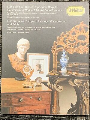 Phillips Zurich,Montag June 1998 Furniture, Clocks,Tapestries,Carpets,Paintings