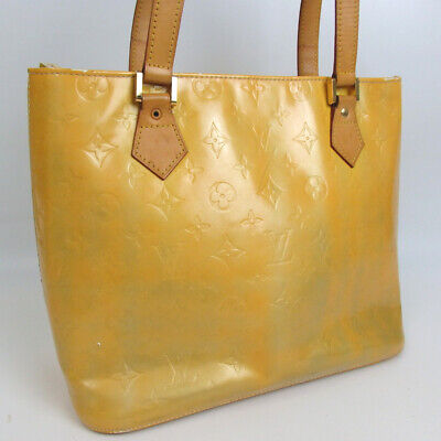 dd12be82f5a7 Authentic LOUIS VUITTON M91004 vernis houston Tote Bag Patent leather Used