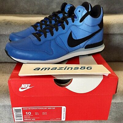low priced 6f372 1d124 NIKE INTERNATIONALIST MID QS REFLECTIVE GAME ROYAL BLUE, BLACK DS Size 10  w  Box