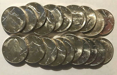 1964 Kennedy Uncirculated Silver Half Dollars-roll of 20