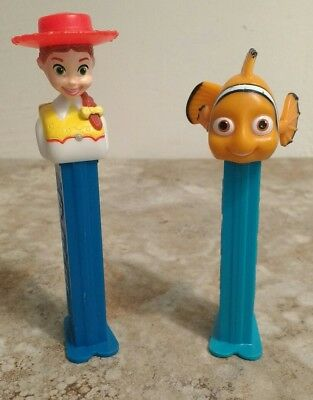 Disney Pixar Toy Story Jessie and Finding Nemo Pez Dispensers GUC