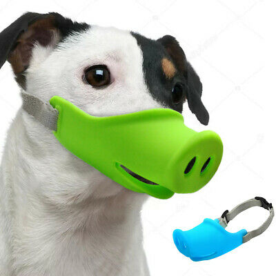 US Pet Dogs Adjustable Mask Bark Bite Silicone Muzzle Grooming Anti Stop Chewing