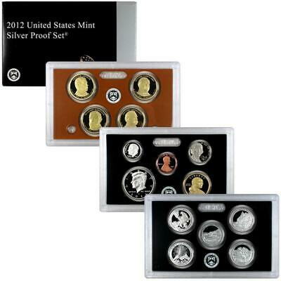2012 United States Mint Silver Proof Set - 14 Coins With Box & COA