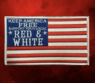 """Hells/Hell's Angels -RSIDE- """"KEEP AMERICA FREE"""" Support Patch"""