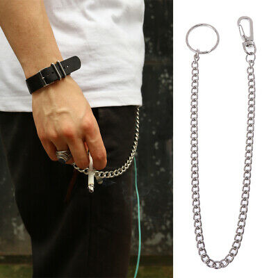 Hip Hop Pants Chain Secure Travel Chain Wallet Heavy Duty Jeans Link Coil Leash