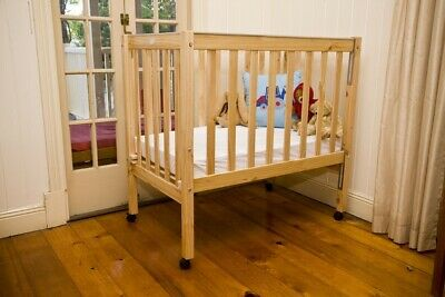 Sunbury children's / baby / toddler / wooden compact cot, ideal for small spaces