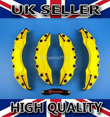 Brake Caliper Covers Set Front And Rear Yellow Abs 4Pcs (Brembo)