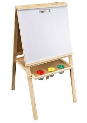 Sunbury deluxe 5-in-1 wooden children's activity art easel for craft and play