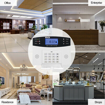 Wireless GSM SMS LCD Display Remote Control Home Security Alarm System Kit C1B6