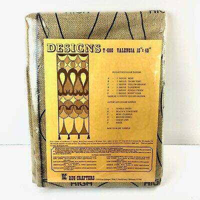 Rug Crafters Burlap Rug Hooking Pattern Design T-608 Valencia 18x48 *NEW*