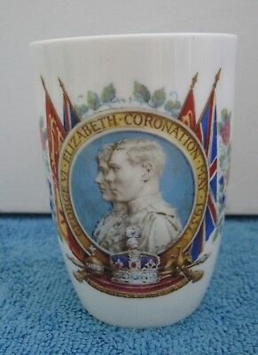 vintage ROYAL DOULTON 1937 King George V1 Coronation BEAKER CUP